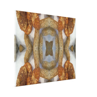 Bread abstract pattern stretched canvas print