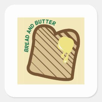 Bread And Butter Square Sticker