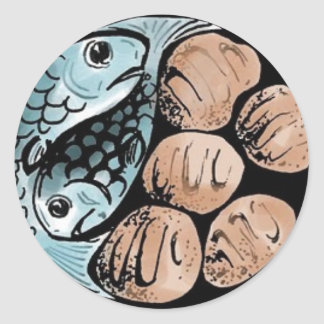 bread-and-fish classic round sticker