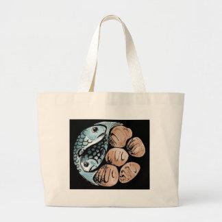 bread-and-fish jumbo tote bag