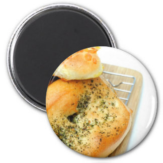 Bread And Rolls 6 Cm Round Magnet