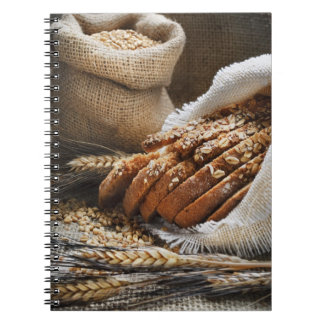 Bread And Wheat Ears Spiral Notebook