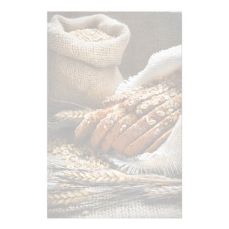 Bread And Wheat Ears Personalised Stationery