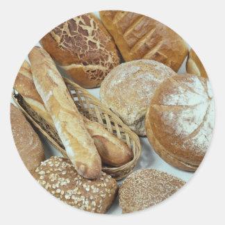 Bread assortment round sticker