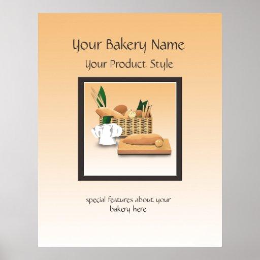 Bread Bakery Floor Sign Print