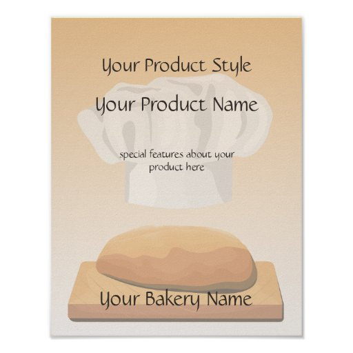 Bread Bakery Product Sign Poster