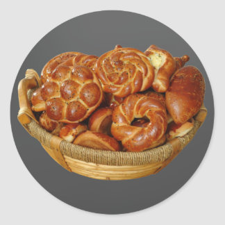 Bread Basket Classic Round Sticker