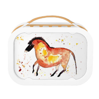 Bread box with handpainted horse