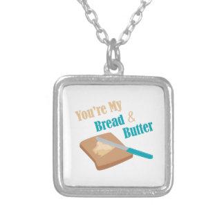 Bread & Butter Square Pendant Necklace