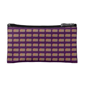 Bread Dark Purple Cosmetic Bags
