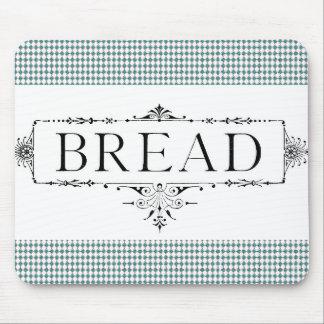 Bread-Farmhouse-Vintage-Art-Teal-Diamond's Mouse Mat