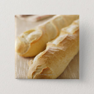 Bread, french stick 15 cm square badge