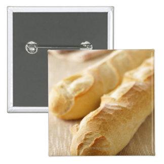 Bread, french stick 15 cm square badge