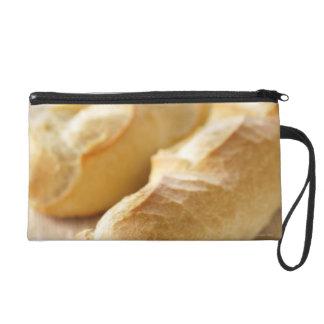 Bread, french stick wristlet clutch