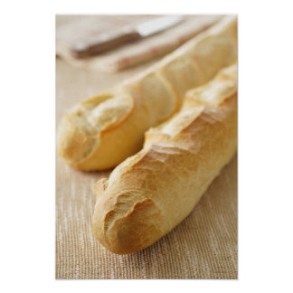 Bread, french stick poster