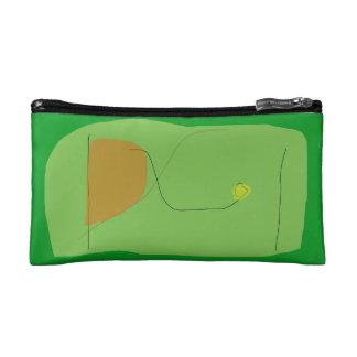 Bread Green Cosmetic Bags