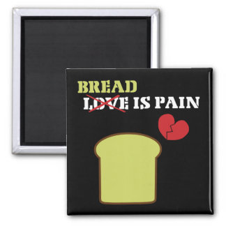 Bread Is Pain Square Magnet