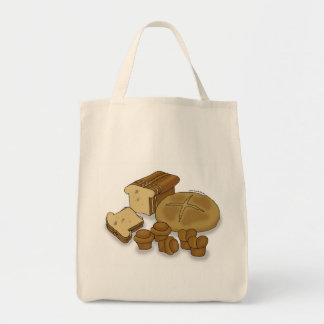 Bread Loaves and Rolls Drawing Bag