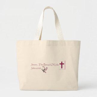 Bread of Life Jumbo Tote Bag