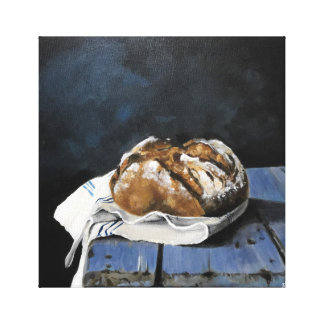 Bread on Kitchen Counter Canvas Print