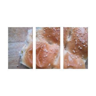 Bread on wooden cutting board, Food Canvas Gallery Wrapped Canvas