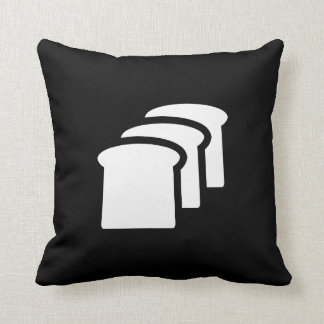 Bread Pictogram Throw Pillow Throw Cushion