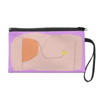 Bread Purple Pink Wristlet Clutch