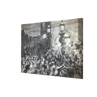 Bread Riot at the entrance to the House Gallery Wrapped Canvas