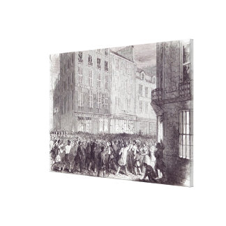 Bread Riot, in the Rue du Faubourg St. Antoine Stretched Canvas Print