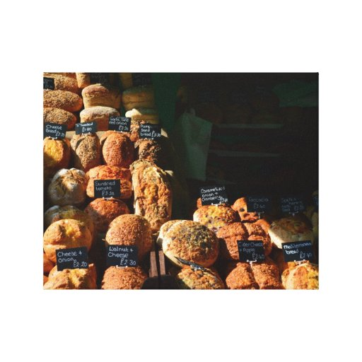 `Bread Rolls` = Weymouth, Dorset, UK Gallery Wrapped Canvas