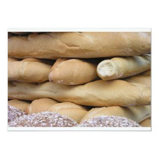 Bread sticks 13 cm x 18 cm invitation card