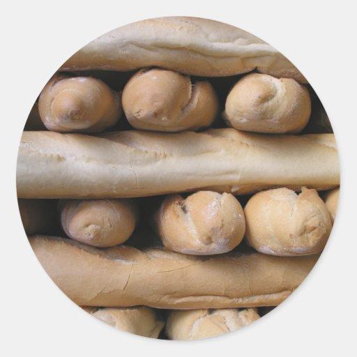 Bread sticks round stickers