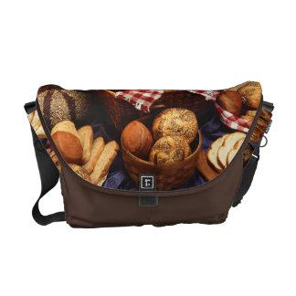 Bread still life messenger bag