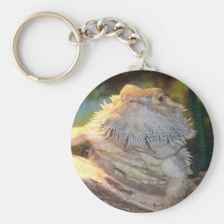 Breaded Dragon Basic Round Button Key Ring