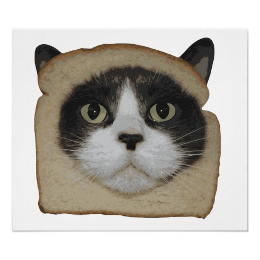 Breaded Inbread Cat Breading Print