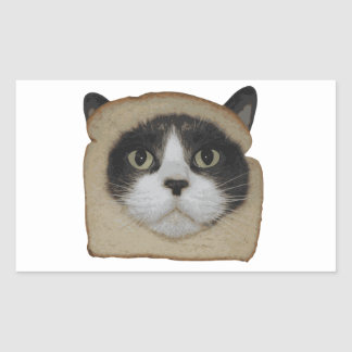 Breaded Inbread Cat Breading Rectangular Sticker