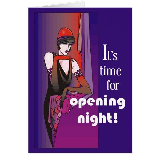 Break a Leg on Opening Night, Flapper Card