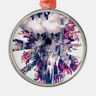Break Away Skull Silver-Colored Round Decoration