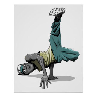 break dance pose poster