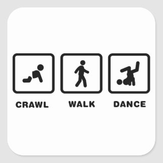 Break Dance Square Sticker