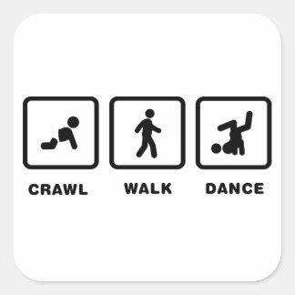 Break Dance Square Sticker