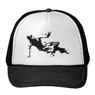 Break Dancer Silhouette BW Trucker Hat