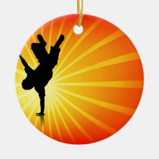 Break Dancing Christmas Ornament