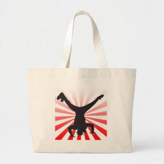 break dancing explosion jumbo tote bag