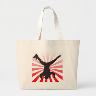 break dancing explosion large tote bag