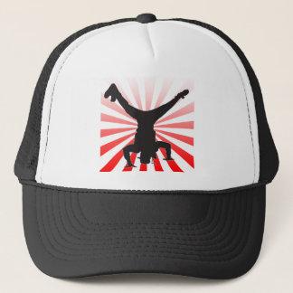 break dancing explosion trucker hat
