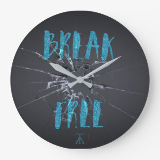 Break Free Graffiti Clock