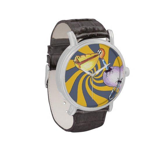 Break Free Pelican Vintage Leather Strap Watch