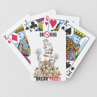 Break Free - Stop Smoking Bicycle Playing Cards