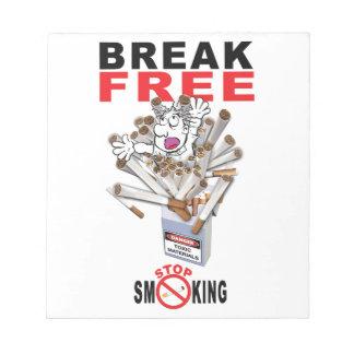 BREAK FREE - Stop Smoking Notepad